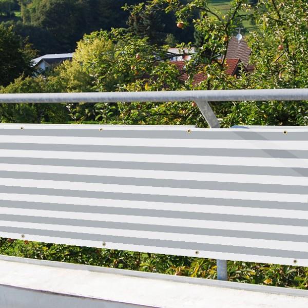 Balkonverkleidung grau-weiss