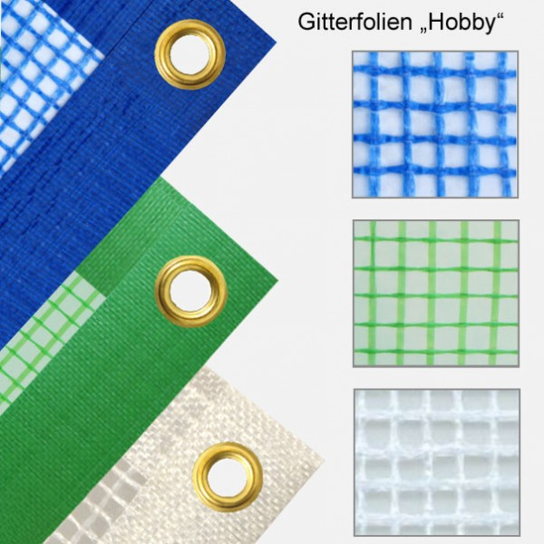 Abdeckplanen mit verstärktem Gitter + stablen Metall-Ösen