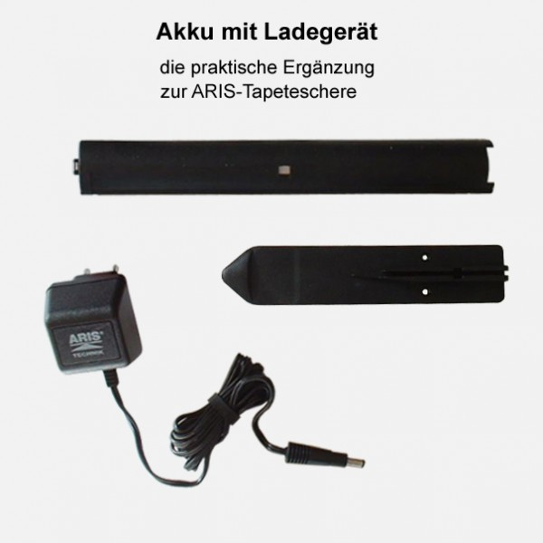 """Akku mit Ladegerät zur """"ARIS"""" Tapetenschere"""