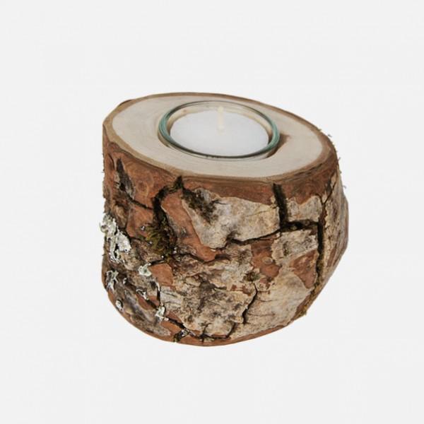 Holz Ast mit Teelicht, Nussbaum-1