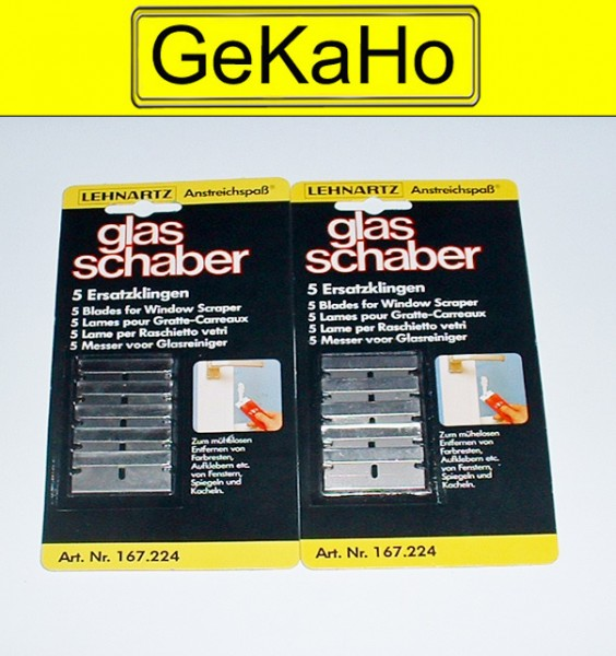10 Ersatzklingen für Glasschaber
