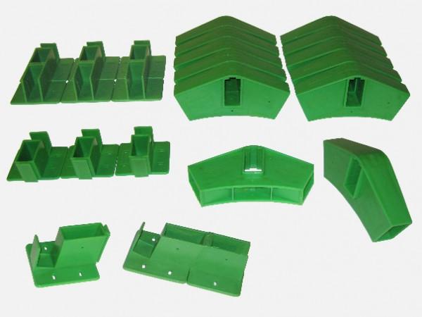 Quick-Norm Stecksystem - 20 Steckelemente grün