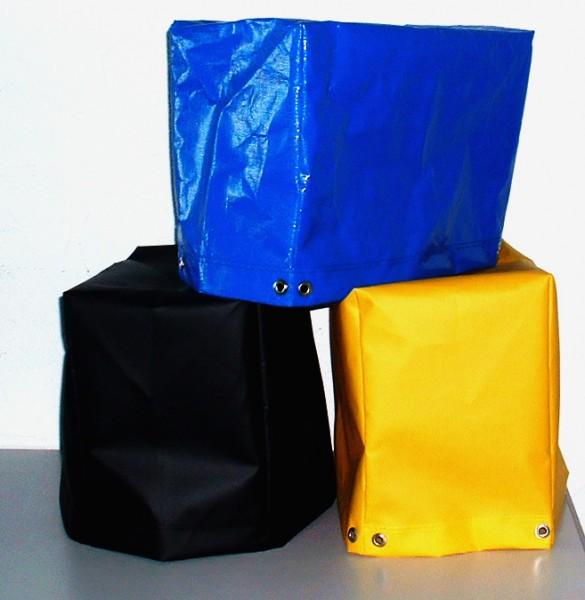 Abdeckhaube blau, schwarz + gelb