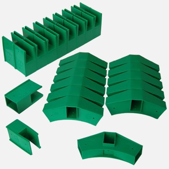 Delta Stecksystem - 30 Steckelemente grün
