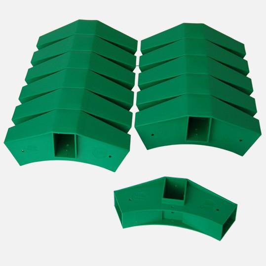 Delta Stecksystem - 12 Steckelemente grün