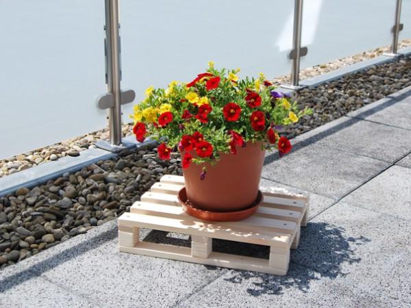 Palette klein mit Blumen