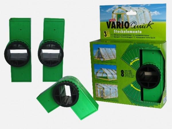 Varioquick - 3-er- Pack Steckelemente grün