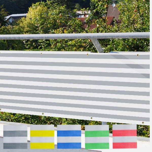 Balkonverkleidung grau-weiss waagerecht