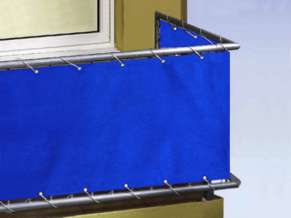 Balkonplane blau