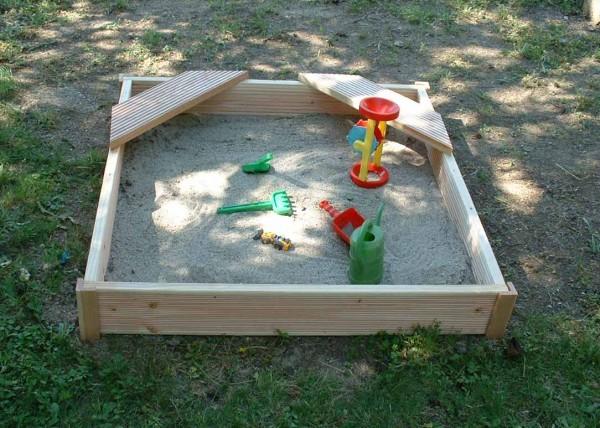 Sandkasten 1 Sitz mit Deko